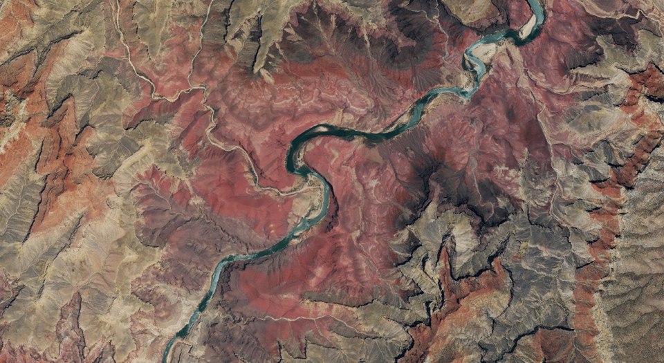 60cm-resolution NAIP imagery of the Grand Canyon from 2017